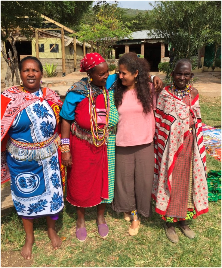 Maasai Elder gives Tour of Village on Safari